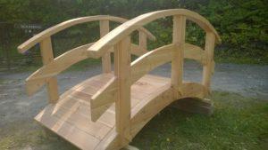 mostek z drewna